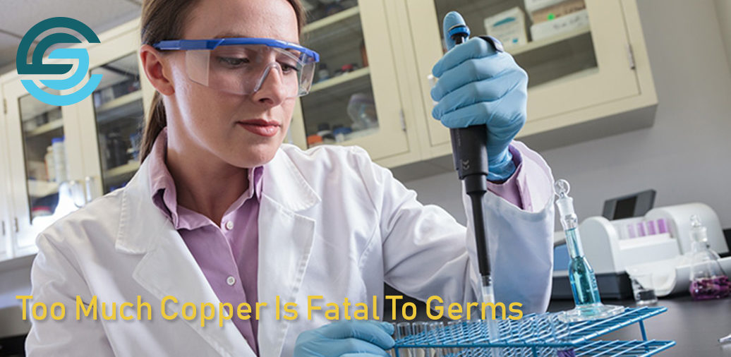 Too Much Copper Is Fatal To Germs