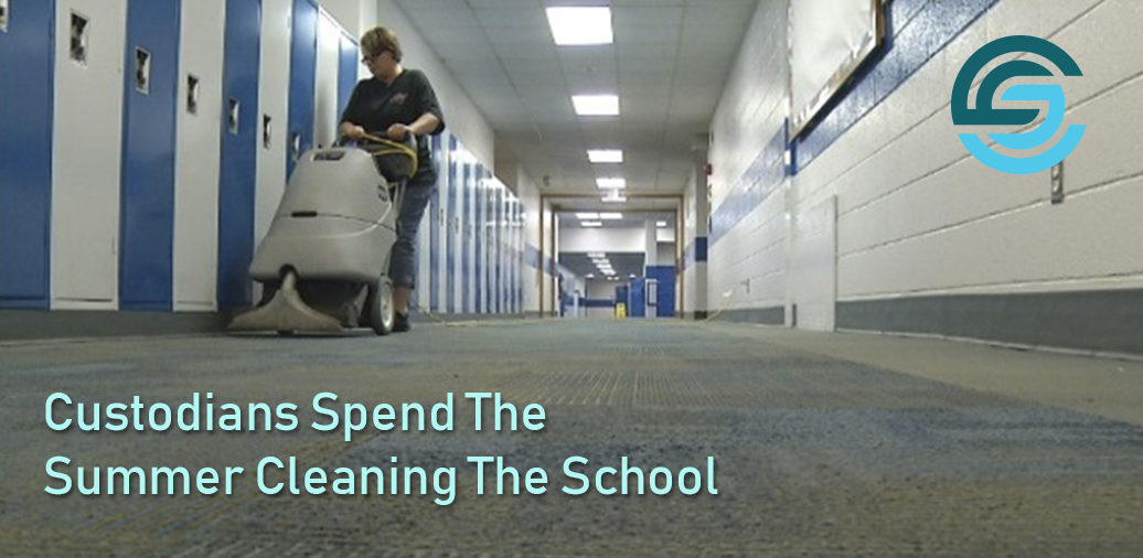Custodians Spend The Summer Cleaning The School