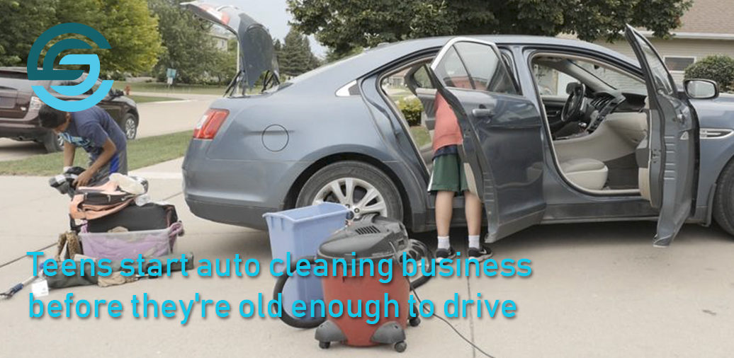 Down to the last detail: Teens start auto cleaning business before they're old enough to drive