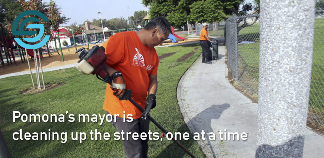 Pomona's mayor is cleaning up the streets, one at a time