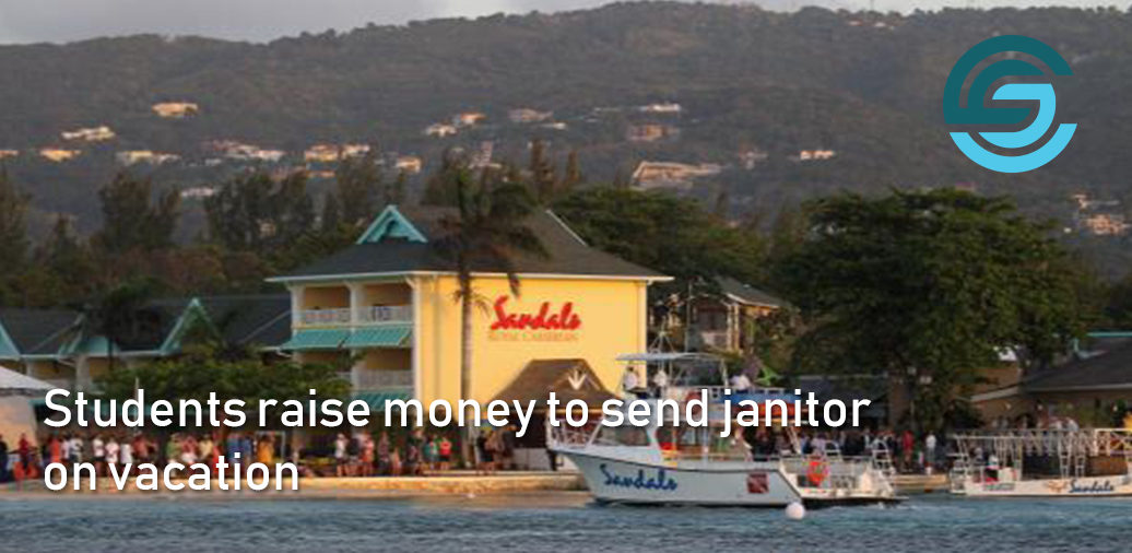 Students raise money to send janitor on vacation