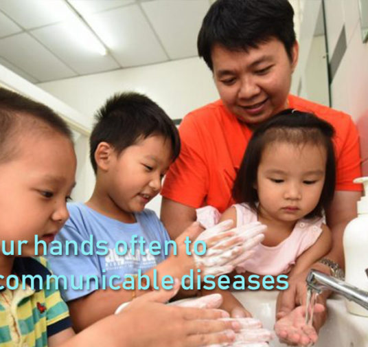 Wash your hands often to reduce communicable diseases